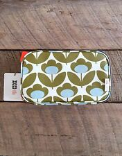 ORLA KIELY Wild Meadow Double Zip Cosmetic Makeup Beauty Travel Bag