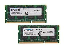 Crucial 16GB (2 x 8G) 204-Pin DDR3 SO-DIMM DDR3L 1600 (PC3L 12800) Laptop Memory