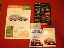 N°5404  /  SUBARU   lot de 4 catalogues 1990-96