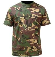 BOYS MILITARY CAMO ARMY T-SHIRT Kids British camouflage soldier top 100% cotton