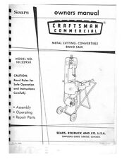 c.1970s Craftsman 101.22950  Commercial Metal Cutting Convertible Band Saw