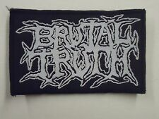 BRUTAL TRUTH DEATH METAL WOVEN PATCH