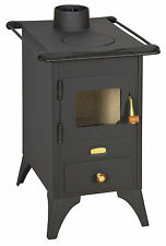 Wood Burning Stove Retro model Cast Iron Top Log Burner Solid Fuel 5kw PrityMINI