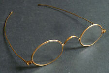 Besicles lunettes en OR massif vers 1900 face-à-main gold glasses