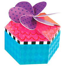 MAD TEA PARTY FAVOR BOXES (12) ~ Alice Birthday Party Supplies Paper Loot Treat