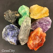 7 Chakra Stone Set Raw Rough Chakra Stones And Crystal For Healing Reiki
