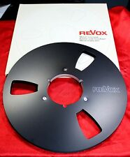 "++ NEW ++ 1 REVOX   PRECISION ALU NAB  EMPTY REEL 10.5""; 1/4"" BLACK ++  NEW ++"