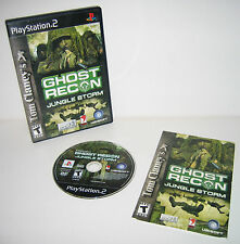 PlayStation 2 Ghost Recon Jungle Storm Tested Works Great PS2 - COMPLETE