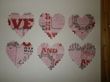 20 Fiskars XL Scalloped Heart Paper Die Cut Punches in Valentine print confetti