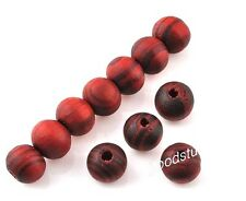 100 pcs red wood Bracelet necklace spacer beads Jewelrymaking finding charms 8mm