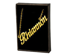"Name Necklace ""RHIANNON"" - 18ct Gold Plated - Stylish Personalised Jewellery"