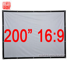 "200"" 16:9 Portable Outdoor Fabric Projection Screens to Any HD Movie Projectors"