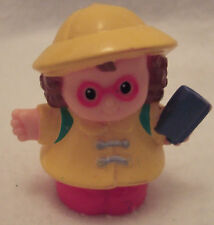 Fisher Price Little People School Girl w/ Yellow Rain Coat & Hat