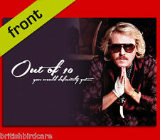 KEITH LEMON Out of 10 Autograph BIRTHDAY Card Reproduction Including Envelope