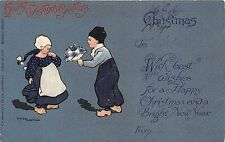 POSTCARD  CHILDREN   Dutch  Children  at  Play   XMAS          ETHEL  PARKINSON
