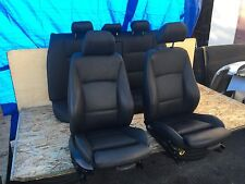 BMW 2007-2011 E90 FRONT & REAR SPORT POWER HEATED BLACK LEATHER SEATS 106K OEM