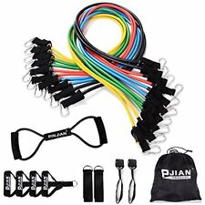 Pinjian Ultimate Resistance Band Set with 10 Heavy Duty Rubber Resistance Bands,