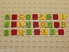 Lego Tile 1x1 with Alphabet , Letters A - Z  26 pieces NEW!!!!
