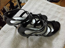 """Tahari Women's Patent Leather Ankle Strap High Heels Size 9.5 M  """"Choir"""""""