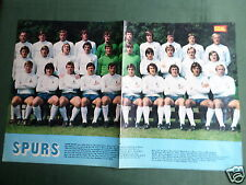 TOTTENHAM HOTSPUR -TEAM CENTREFOLD PICTURE  - MAGAZINE CLIPPING /CUTTING