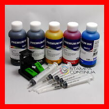 Kit tinta recarga cartuchos Negro y Color para HP N°21 27 56 / 22 28 57
