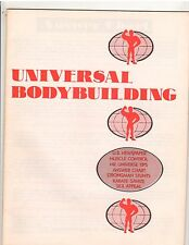 UNIVERSAL BODYBUILDING/Muscle Control/Strongman Stunts/Karate/Sex Appeal/Savate