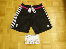 NWT Juventus F.C. Football Soccer Adidas Black Pink Woven Training Shorts Men M