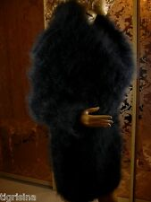Mohair Handmade Fluffy Thick Oversized Seamless Black Cowl Neck Sweater Jumper