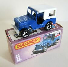 Matchbox Superfast 5c US Mail Jeep - Large Rear Canopy Window - Mint/Boxed