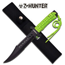 Z-Hunter Zombie Bio Hazard Hunting Knife Green Cord Wrap Handle # 103