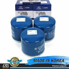 GENUINE Oil Filter 3pcs Fits 86-16 Hyundai Accent Elantra Sonata Kia Optima OEM