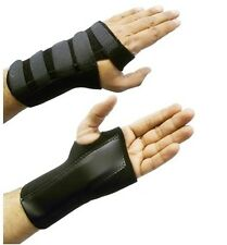 Small Black Adjustable Left Hand Wrist Palm Support Splint Brace Glove Sprain S