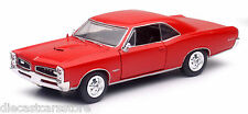 Newray 1/25 Scale Muscle Car Collection 1966 Pontiac GTO Red Diecast Car 71853