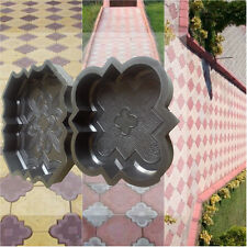 CONCRETE PAVING (SET OF 2) GARDEN PATH SLAB BRICK PLASTIC FLOOR TILE MOULD 1
