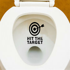 Hit The Target Toilet Seat Funny Wall Stickers Waterproof Home Room Decal Decor