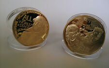 Europe Great Man William Shakespeare Gold Plated Coin - Souvenir Craft 1Pcs