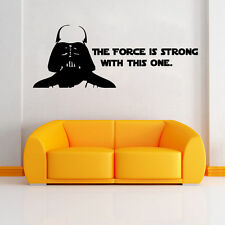Star Wars Kids Nursery Wall Sticker Art Words Mural Decal Wall Art Room Decor