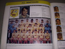 FOOTBALL COUPURE LIVRE PHOTO COULEUR 20x10 D2 GrB FC MARTIGUES 1988/1989