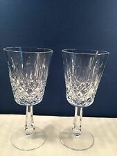 """Pair of Galway """"CLIFTON""""  IRISH Cut Leaded Crystal Goblets 7 3/4""""  Absolut Prfct"""