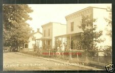 Chateauguay rppc Cottages DuPont QC Canada stamp 1909