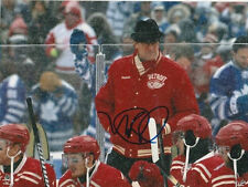 MIKE BABCOCK SIGNED DETROIT RED WINGS COACH 8x10 PHOTO! WINTER CLASSIC