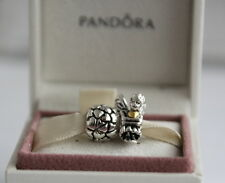 Authentic Pandora Beads Fairy Pixie and Lotsa Love Charm Silver 14K Gold Combo