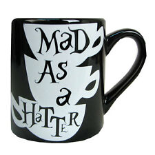 Alice in Wonderland Mad Hatter Coffee Cup Mug Mad As A Hatter Black Coffee Mug