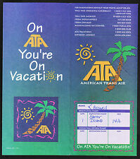 1997 ATA American Trans Air Ticket Jacket to Easter Island