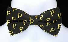 New Pittsburgh Pirates Mens Bow Tie Adjustable MLB Logo Baseball Fan Gift Bowtie