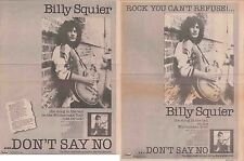 BILLY SQUIER : CUTTINGS COLLECTION -adverts-