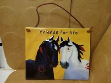 "Friends For Life Wall Hanging Tile, 7"" X 5 7/8"", Designed By Webb (Used/EUC)"