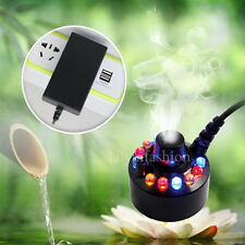 LED Ultrasonic Mist Maker Fogger Fountain Pond Atomizer Humidifier Aquarium Tank