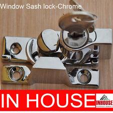 Window Sash Lock, Keyed Alike 2 keys- Chrome