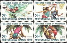 Micronesia 1994 Sports/Basketball/Diving/Fish/Climbing/Palm Trees 4v blk (s1707)